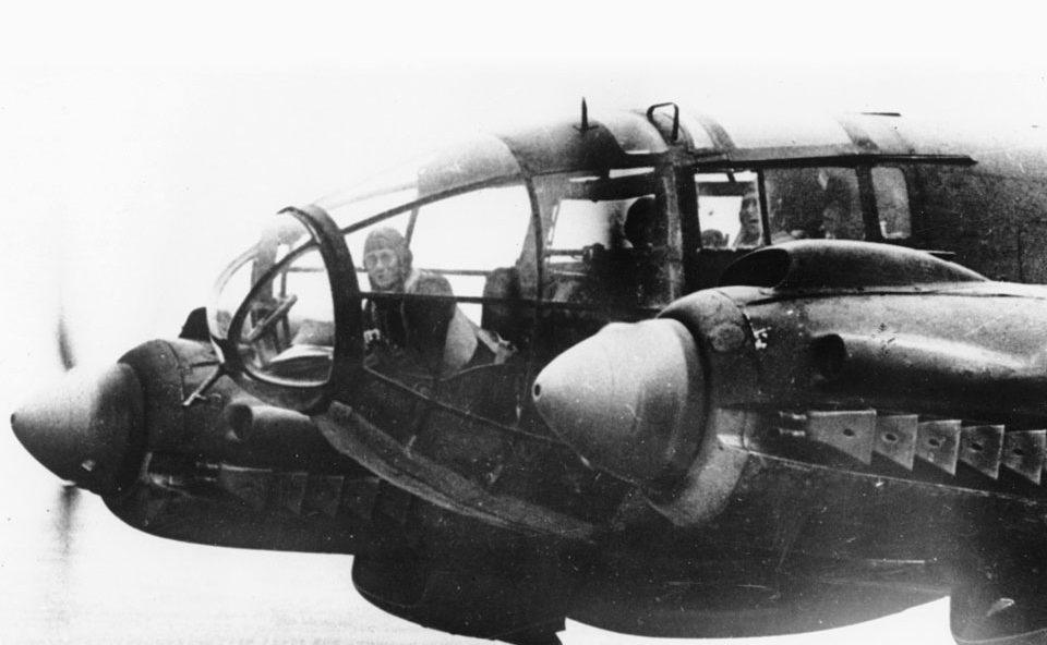 Heinkel He-111 bomber - en route to England Nov 1940