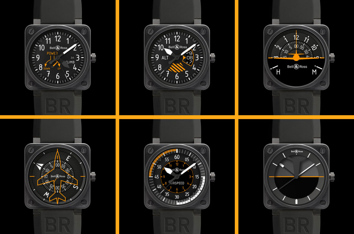 bell ross for only watch 2013 is a set of six unique aviation watches monochrome watches. Black Bedroom Furniture Sets. Home Design Ideas