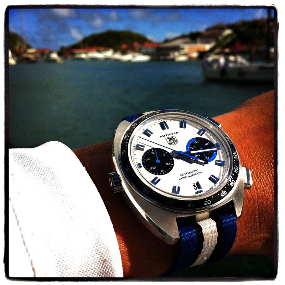 Weekly watch photo tag heuer autavia monochrome watches for Tag heuer autavia isograph