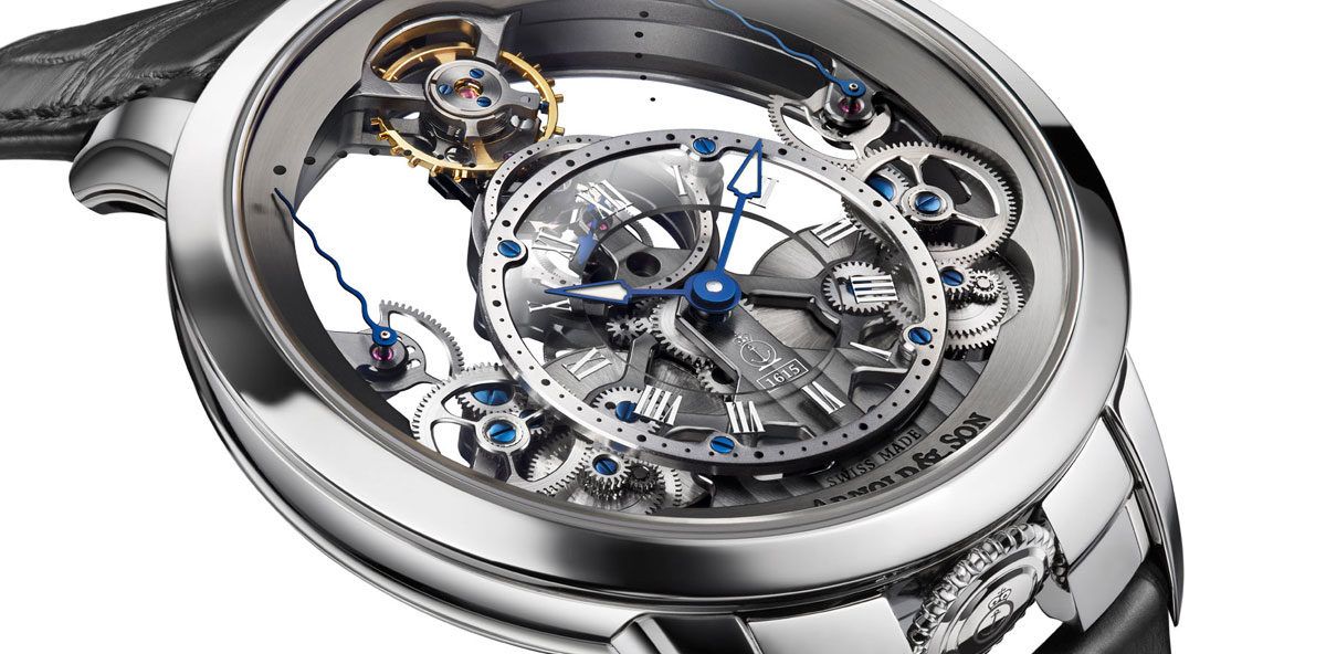 Arnold & Son Time Pyramid in stainless steel