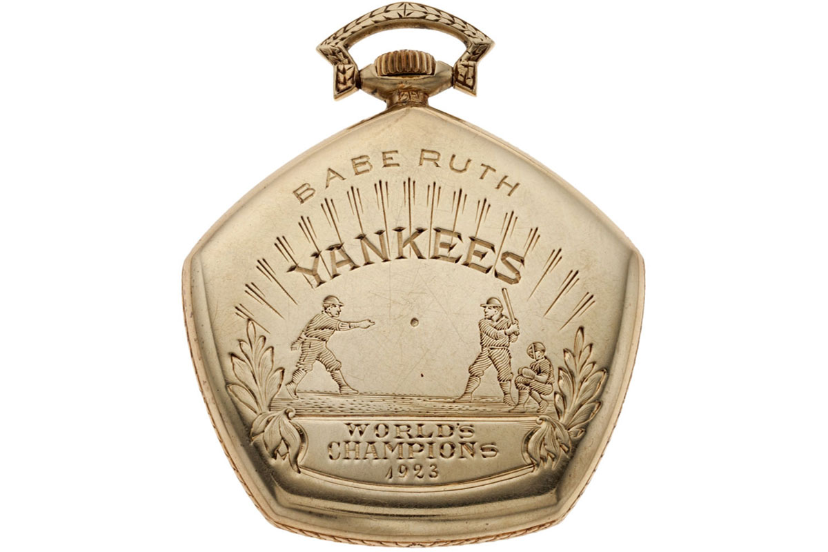 Take a Swing at Owning a Piece of American Sports History:  The 'Bambino's' 1923 World Series Pocket Watch For Sale