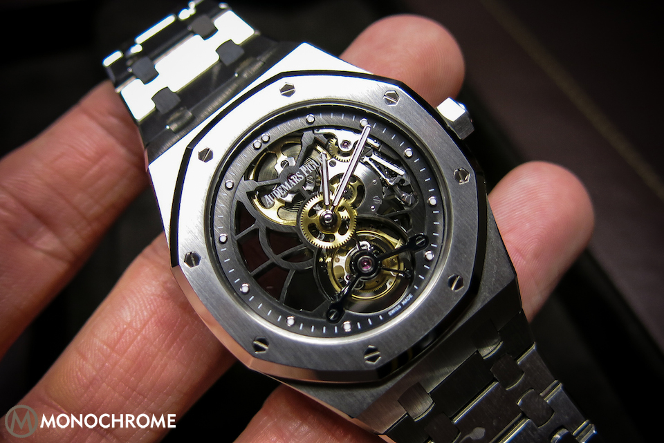 SPOTTED: Prototype AP Royal Oak 40th Anniversary Skeleton Tourbillon in STAINLESS STEEL