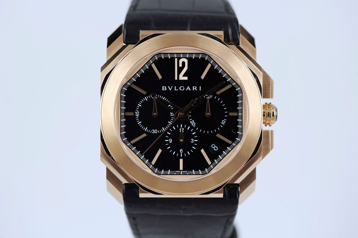 main strap acqua dial bvlgari black in professional watch on with steel pro diagono watches essential