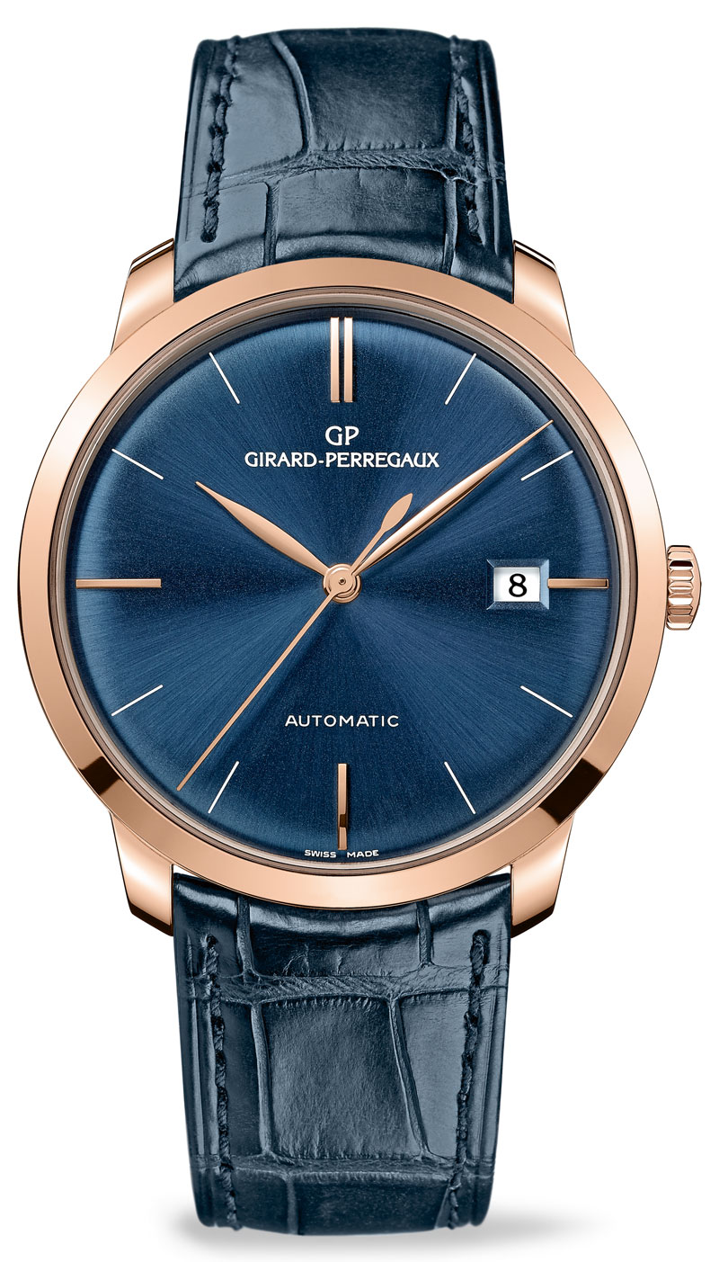 Pre Baselworld 2014: Introducing the Girard-Perregaux 1966 in Pink Gold with Deep Blue Dial