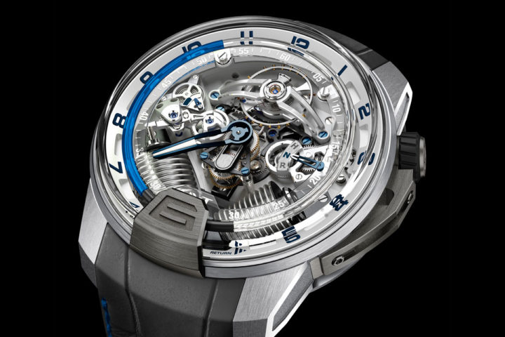 HYT H2 Titanium & White Gold Blue