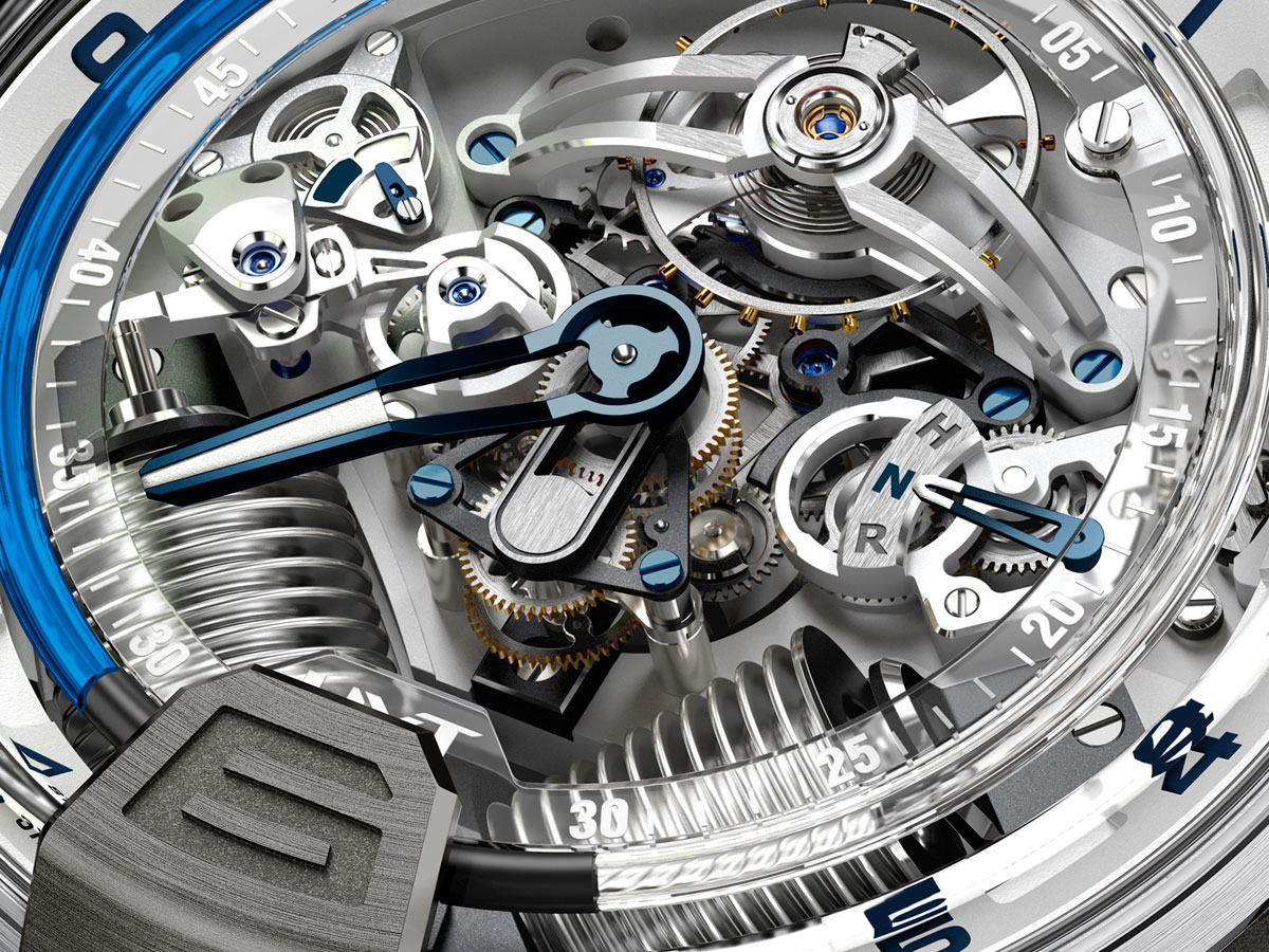 Pre Baselworld 2014: Introducing the HYT H2 Titanium & White Gold Blue