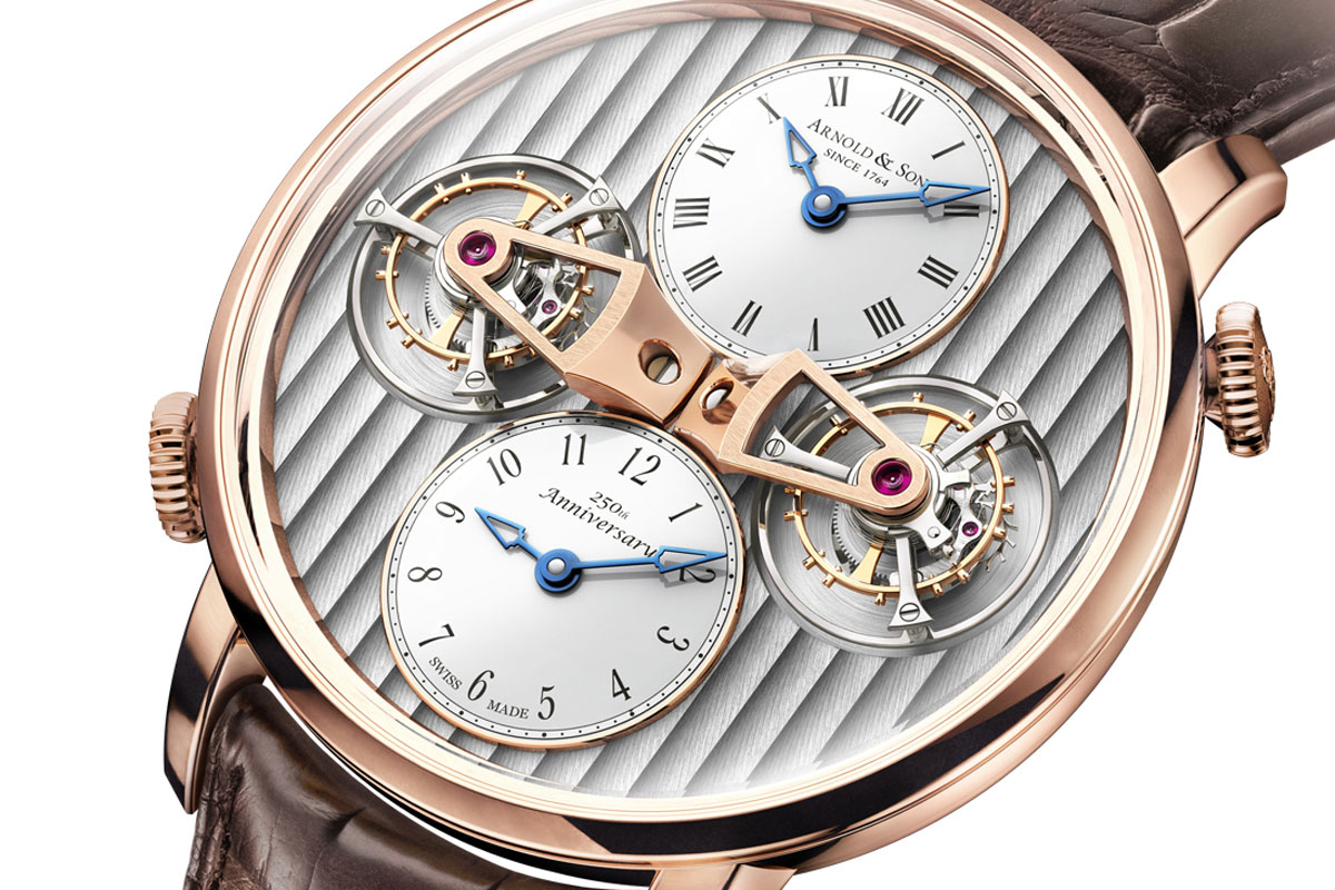 Baselworld 2014: Introducing the Arnold & Son DTE – Double Tourbillon Escapement Dual Time Watch