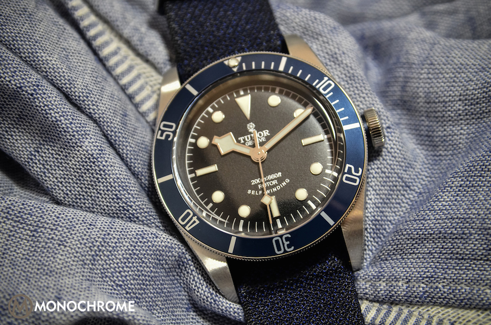 Tudor heritage black bay with blue bezel ref 79220b live - Tudor dive watch price ...