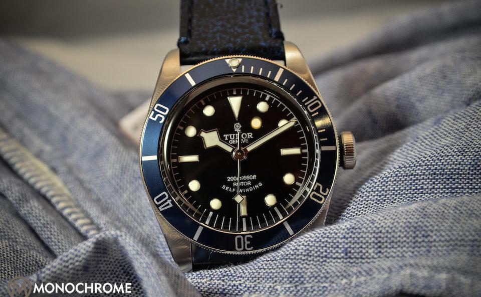 Tudor heritage black bay with blue bezel ref 79220b live - Tudor dive watch price ...