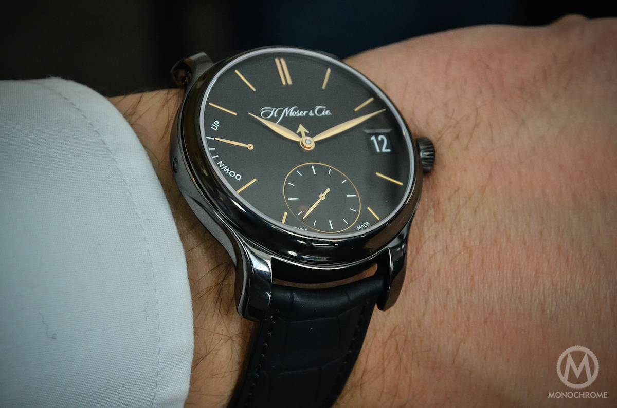 H. Moser Perpetual Calendar Black DLC Titanium - Wristshot 2