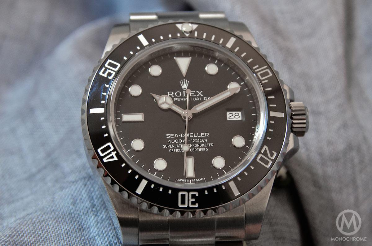 Rolex sea dweller 4000 ref 116600 monochrome watches for Rolex sea wweller