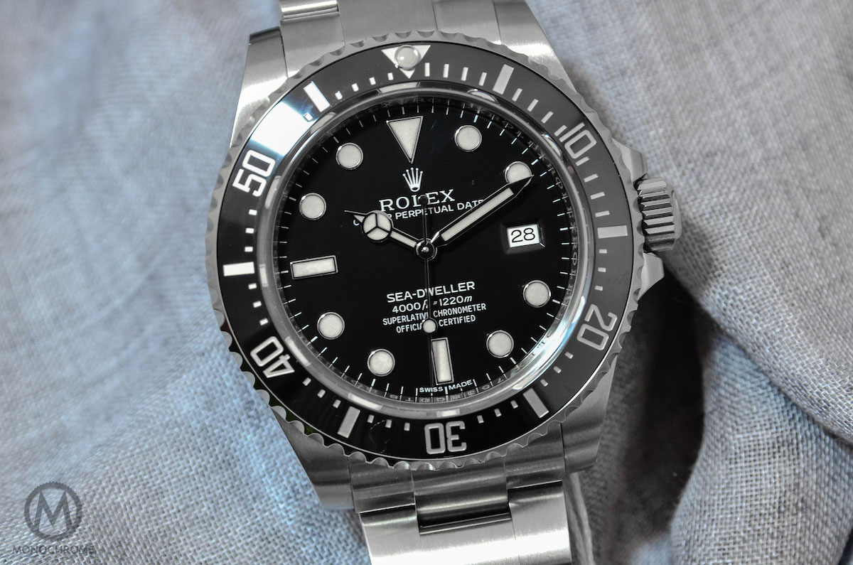 The sea dweller is back introducing the rolex oyster perpetual sea dweller 4000 ref 116600 for Rolex sea wweller