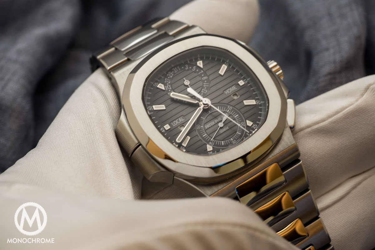 Patek Philippe Nautilus Travel Time Chronograph ref. 5990/1A Replaces the Steel Nautilus Chronograph ref. 5980/1A