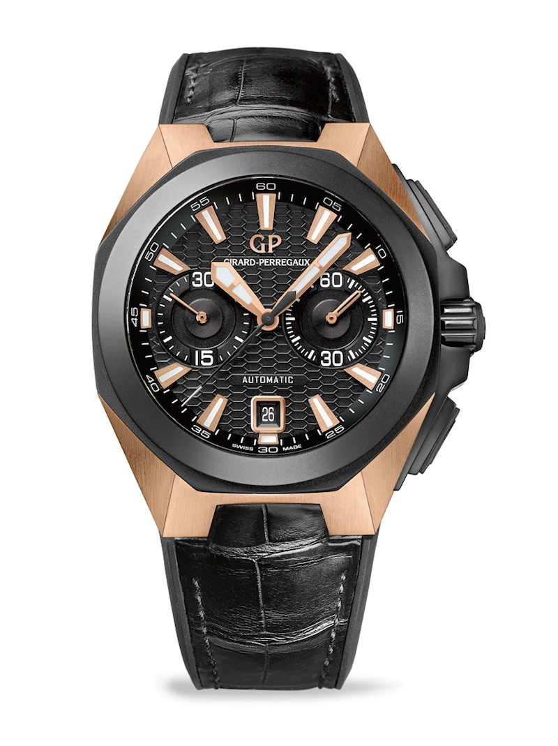 Introducing the girard perregaux chrono hawk pink gold live photos pricing monochrome watches for Girard perregaux