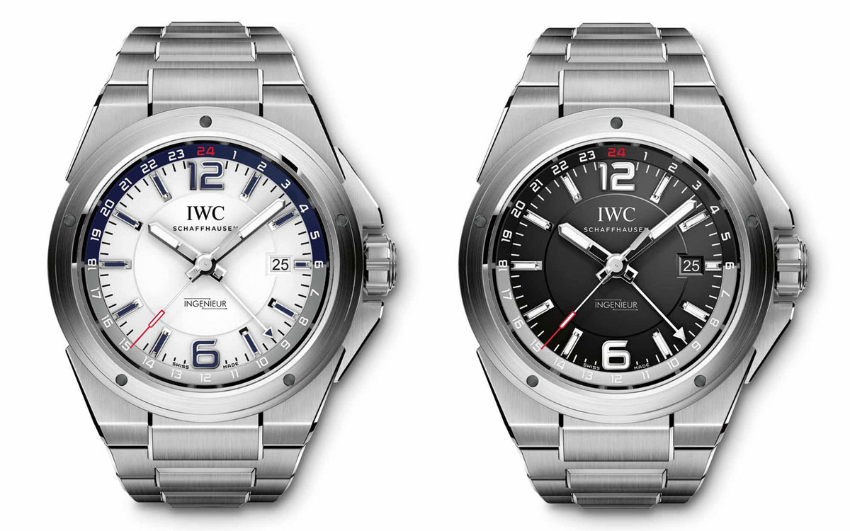 IWC adds the stainless steel Ingenieur Dual Time to the Ingenieur collection
