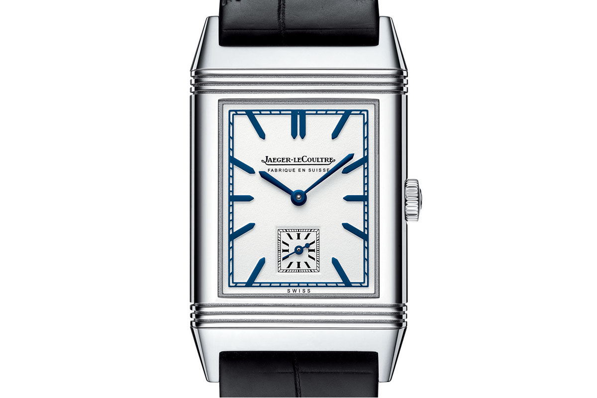 Introducing the Jaeger-LeCoultre Grande Reverso Ultra Thin 1948 with Fabriqué En Suisse on the dial