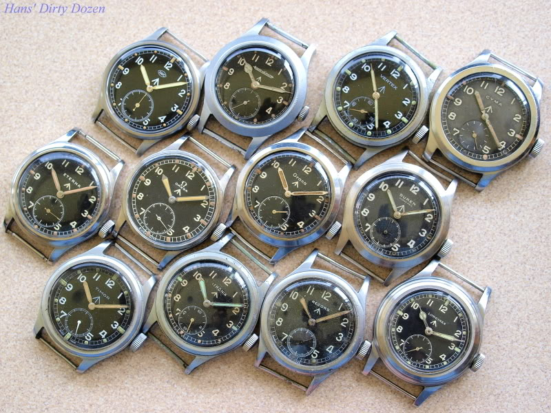 The Auction Hammer Three Military W W W Watches From Iwc