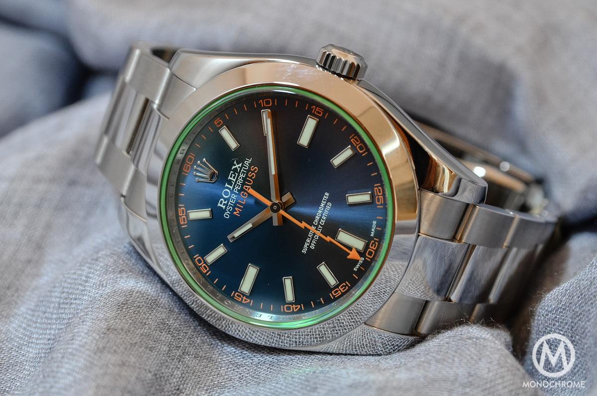 Rolex Milgauss Blue Wrist