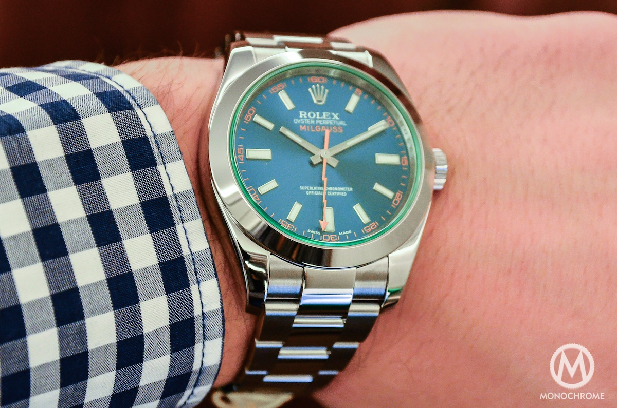 Hands-on with the Rolex Milgauss Blue Ref. 116400GV ...