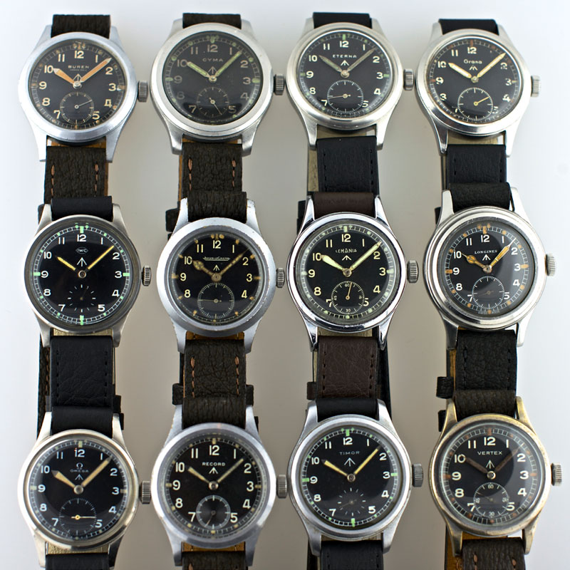 The Auction Hammer: Three Military W.W.W. watches from IWC and Record