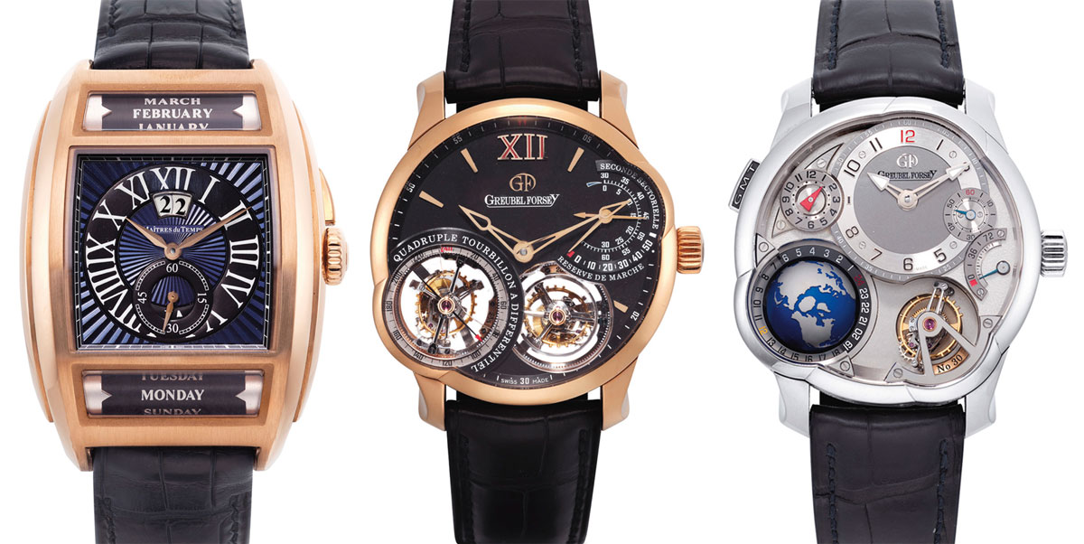 Watches from Indie Watchmakers at Christie's Important Watches Auction in Hong Kong – May 28th