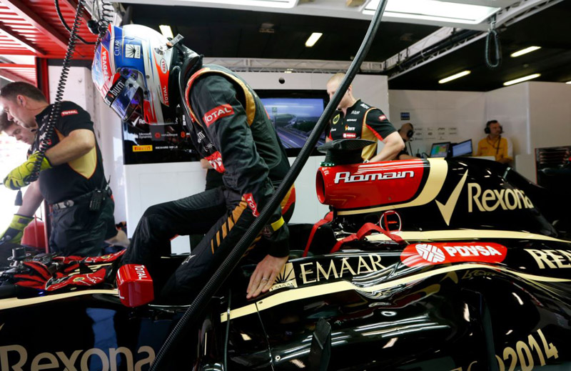 Romain Grosjean's Richard Mille RM 011 NTPT Lotus F1