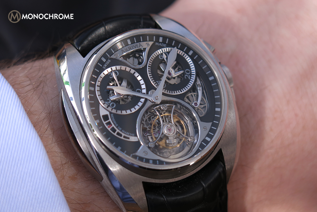 Hands-on with the AkriviA Tourbillon Monopusher Chronograph (Photos, Specs and Price)