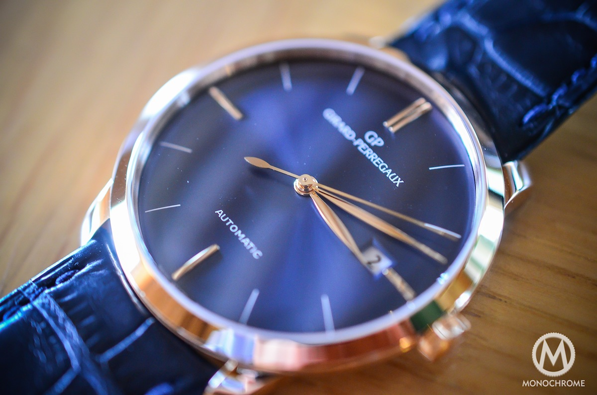 Girard-Perregaux 1966 blue dial and pink gold - REVIEW ...