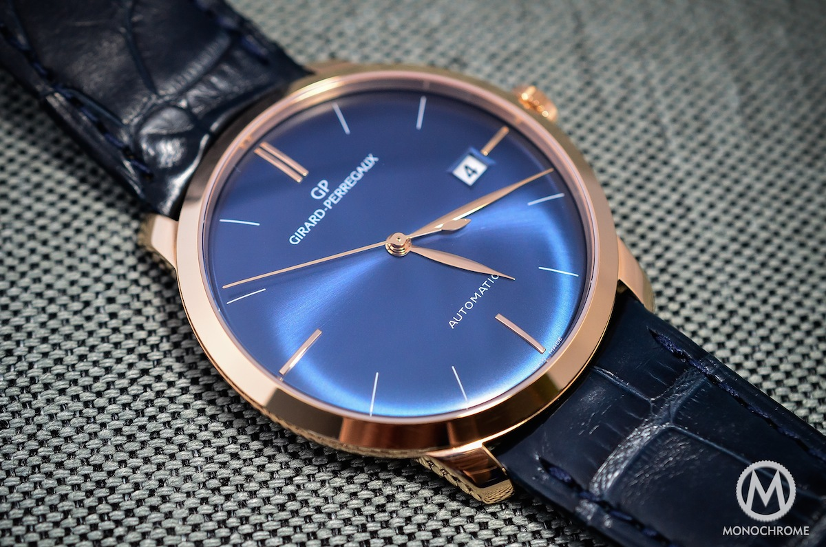 Girard-Perregaux 1966 blue dial and pink gold – Review
