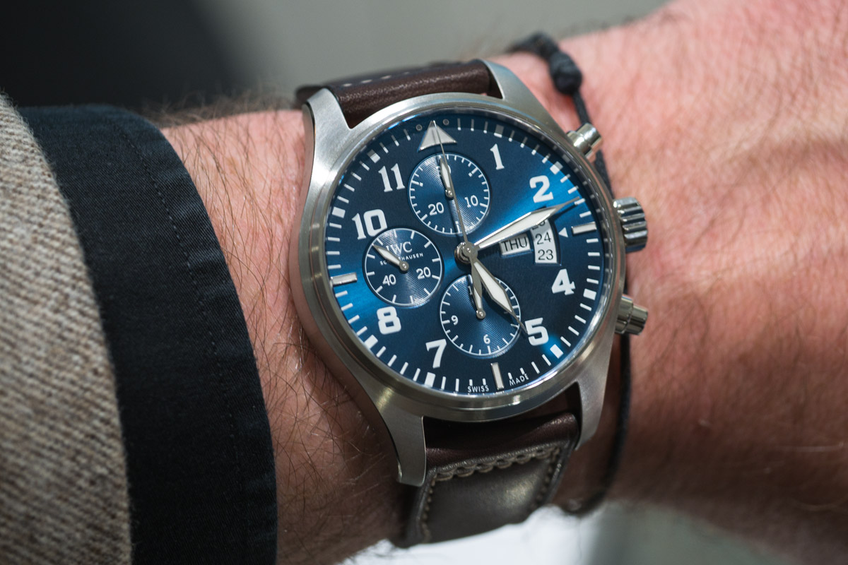 IWC Pilot Watch Chronograph le petit prince - on wrist