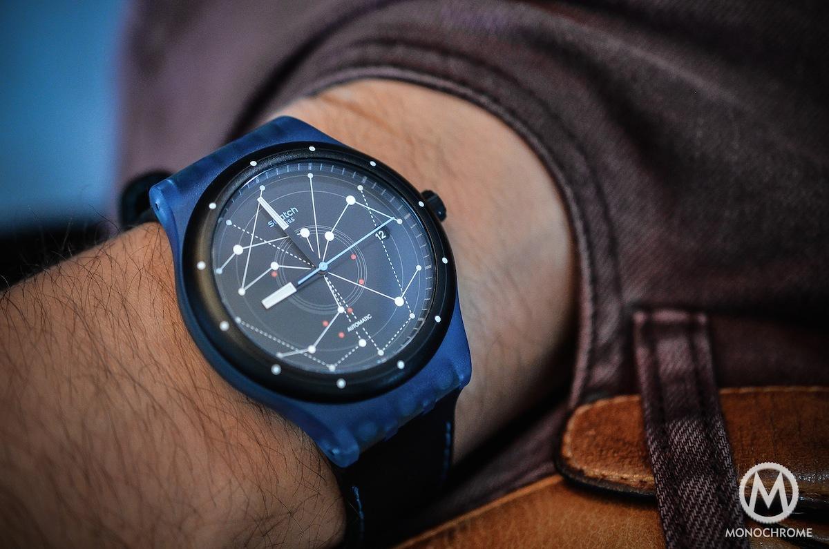 swatch sistem51 blue - wrist