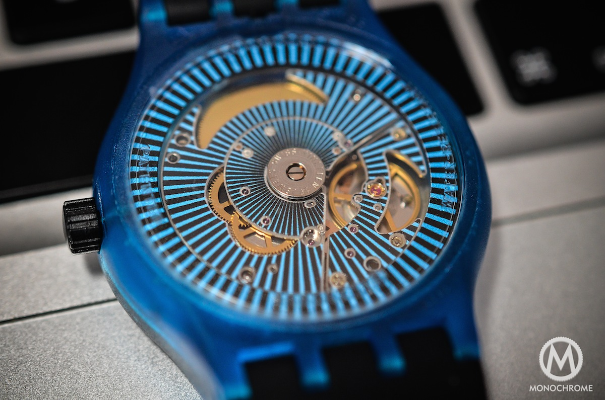 swatch sistem51 blue - back