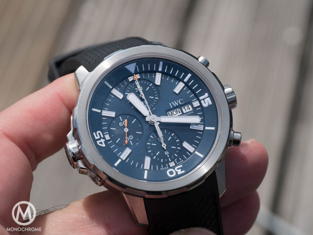 Iwc aquatimer chronograph edition expedition jacques yves cousteau review with exclusive for Expedition watches