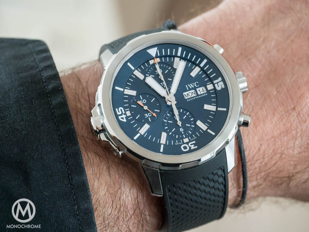 IWC Aquatimer Chronograph Edition Expedition Jacques-Yves Cousteau - on wrist