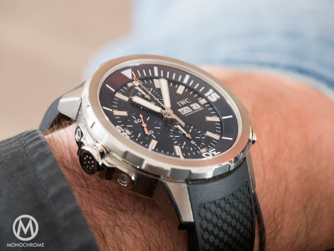 IWC Aquatimer Chronograph Edition Expedition Jacques-Yves Cousteau - wrist