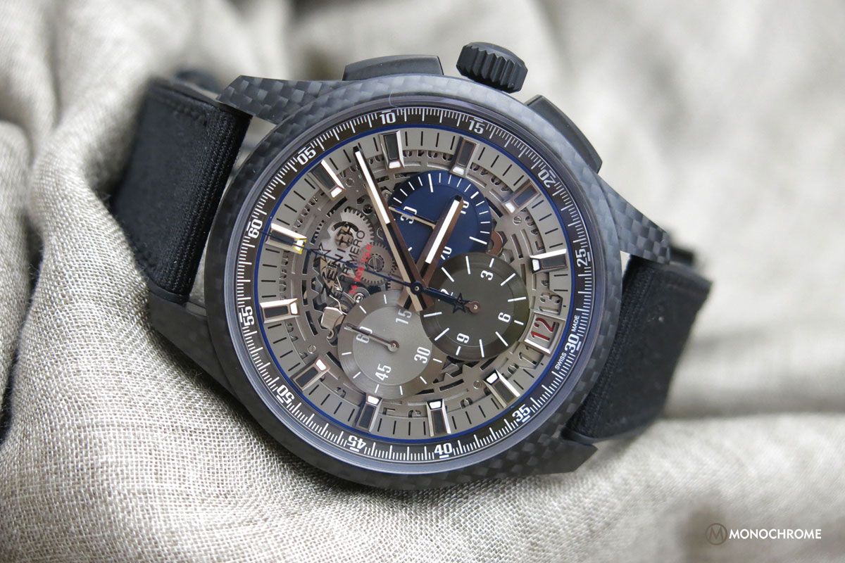 zenith el primero lightweight photos specs and price monochrome watches. Black Bedroom Furniture Sets. Home Design Ideas