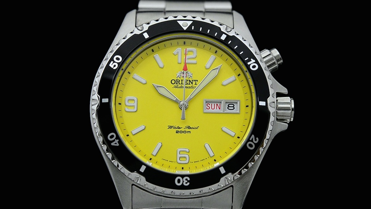 yellow on best chronograph shopping steel dial images pinterest men watch watches s seiko
