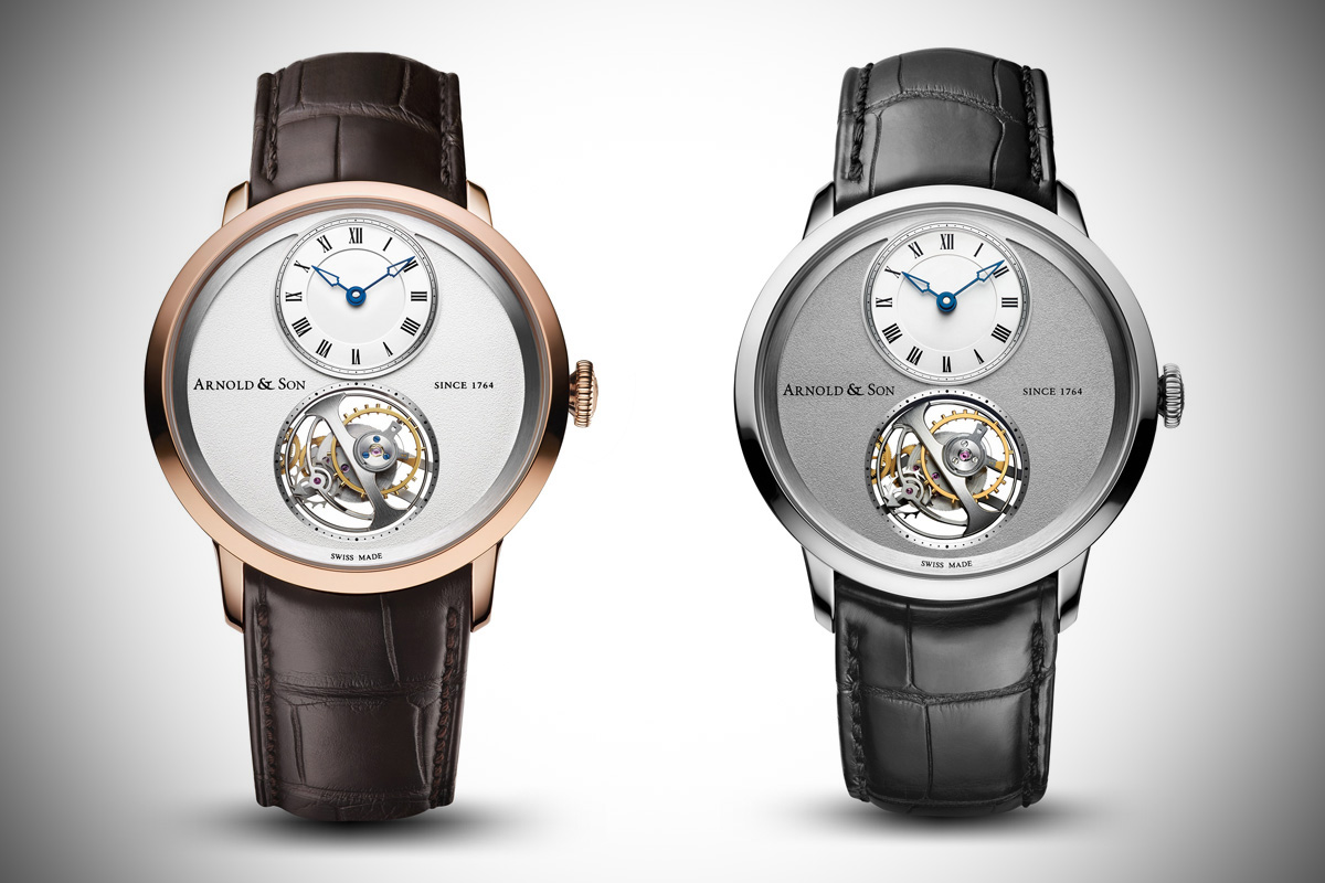 Arnold & Son UTTE – Ultra Thin Tourbillon Escapement – Two new editions