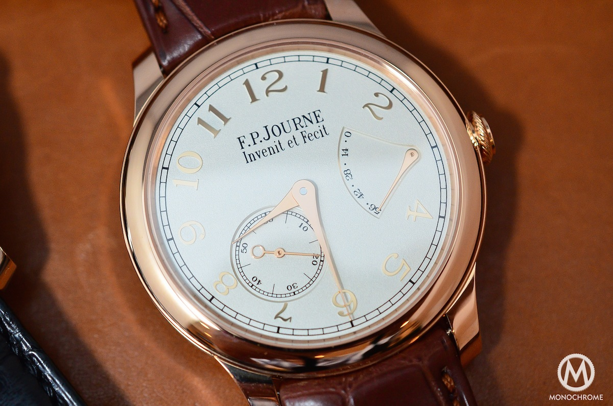FP Journe Solid Gold dials – A closer look with live photos