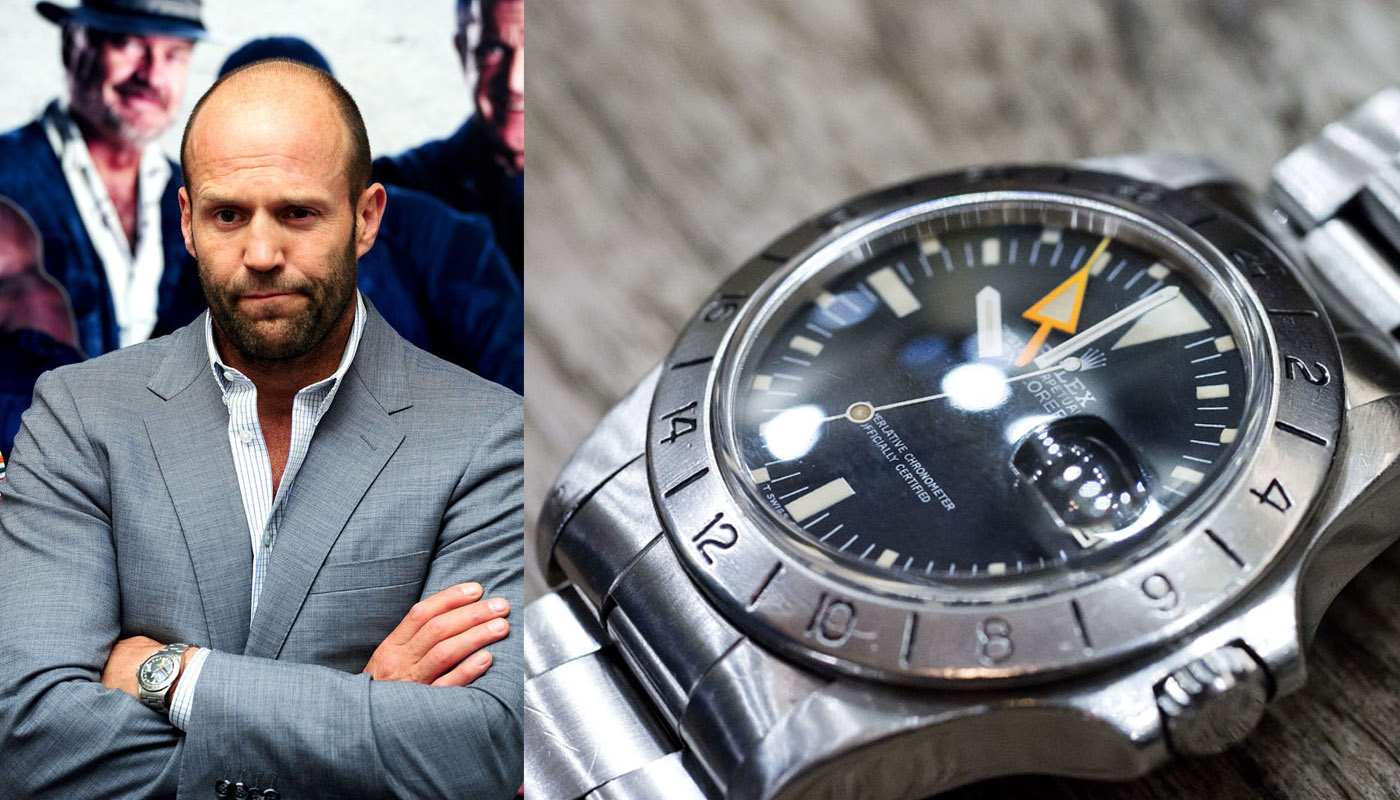 watching celeb watches jason statham monochrome watches ForJason Statham Rolex Explorer