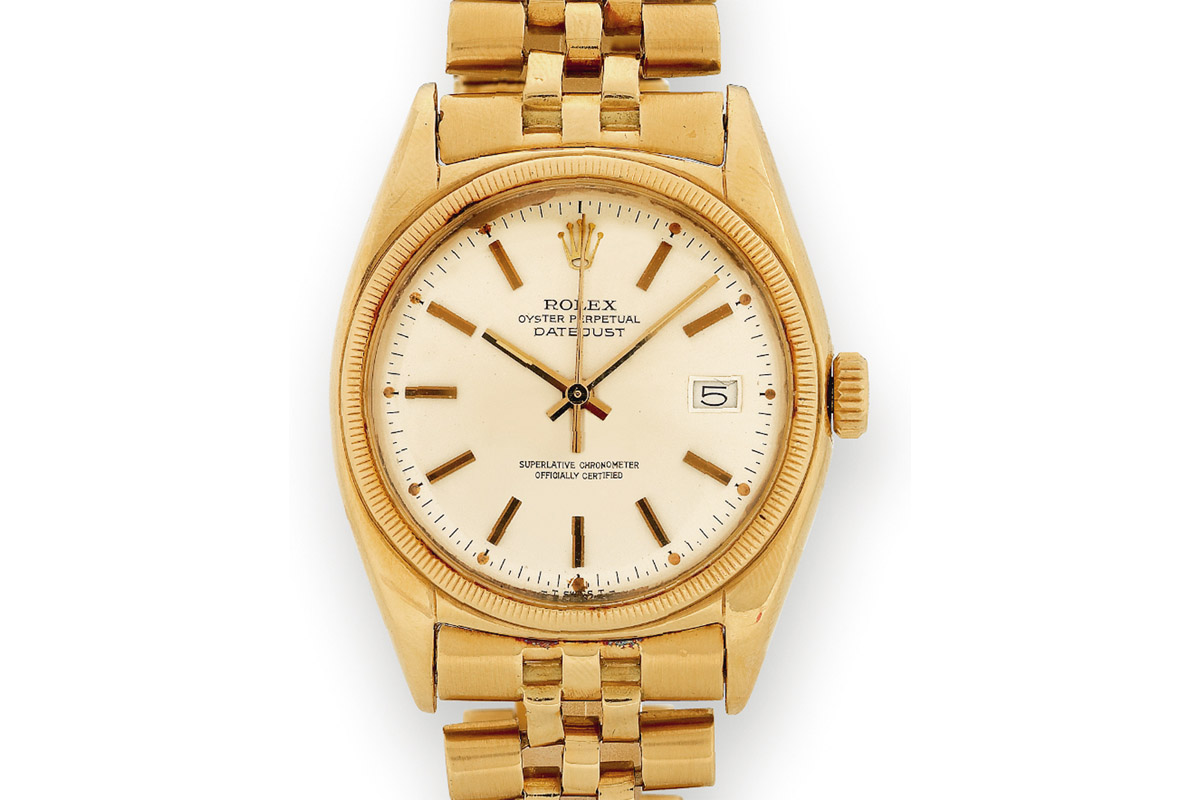 Rolex Datejust 1950 in gold with jubilee bracelet