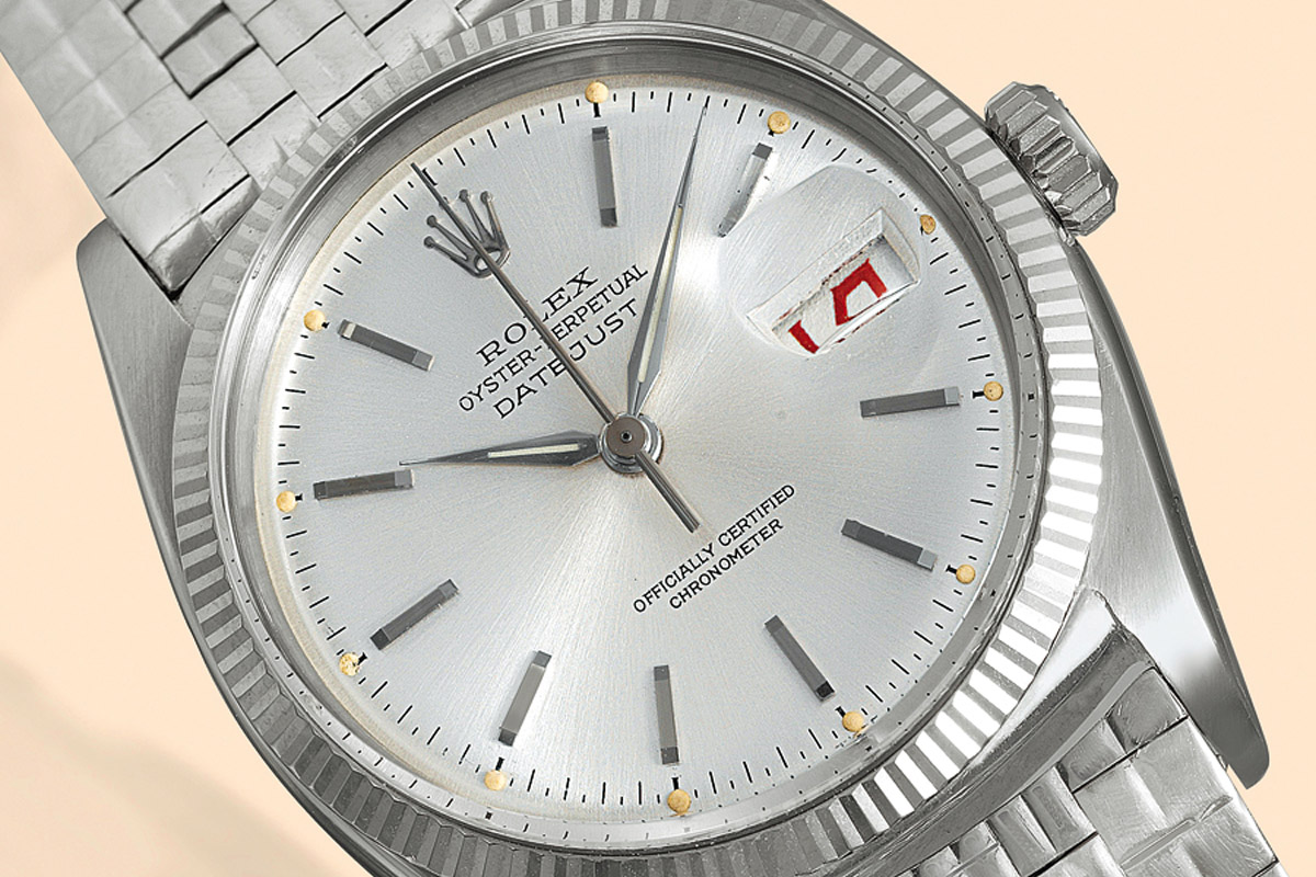 Rolex Datejust 1958 White gold, with the cyclops and the fluted bezel