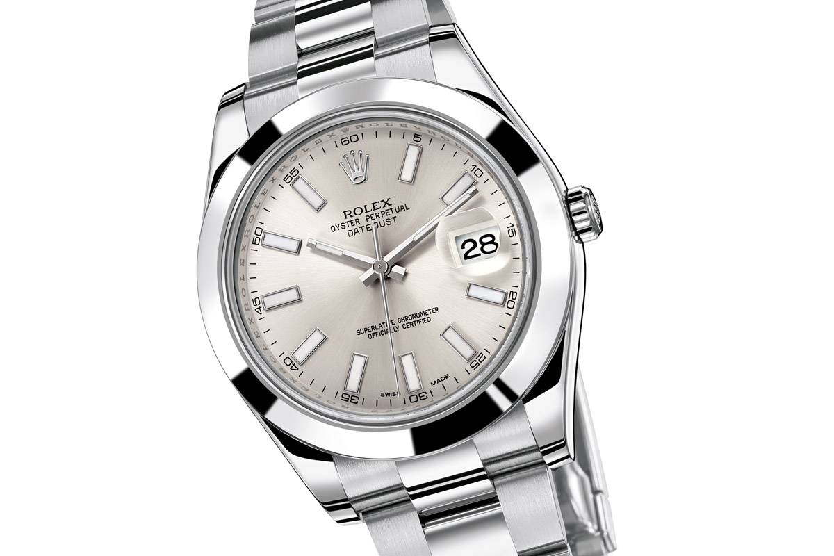 watchtime wednesday the history of the rolex datejust monochrome watches. Black Bedroom Furniture Sets. Home Design Ideas