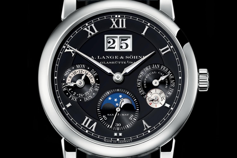 A Lange & Sohne Langematik Perpetual white gold black dial - 4