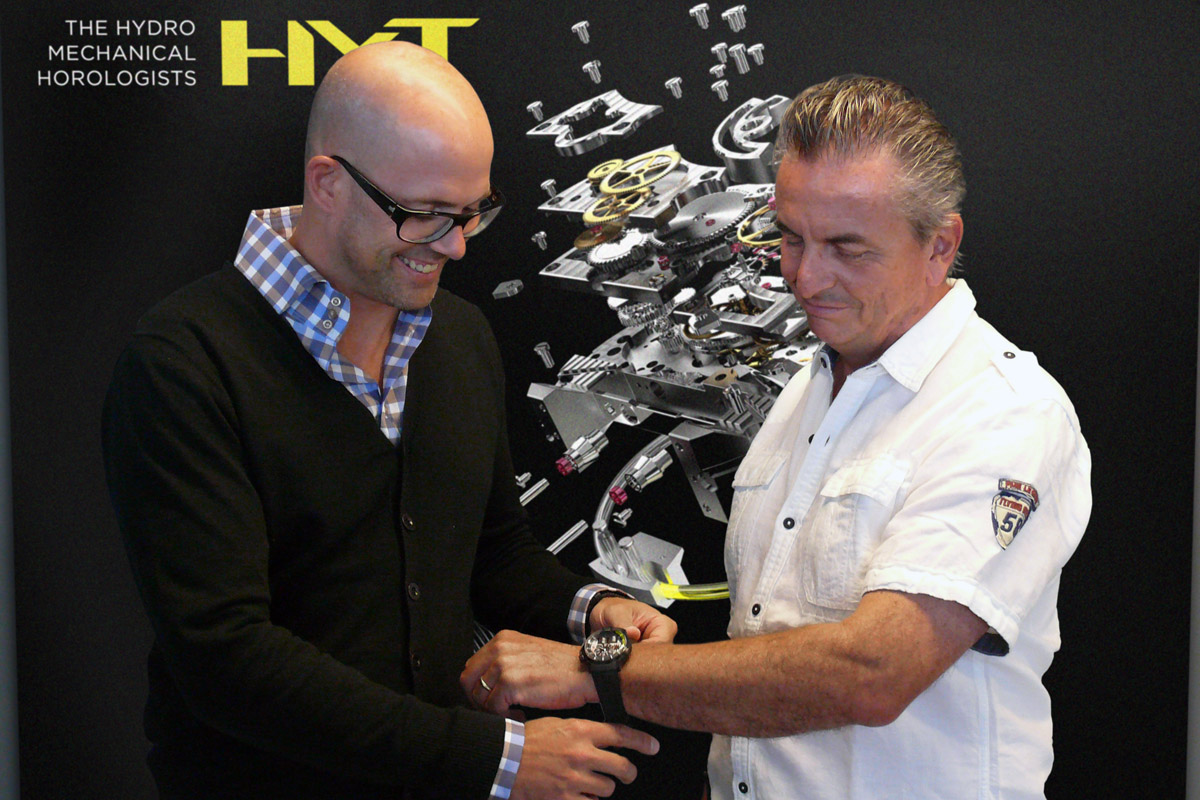 HYT Watches welcomes the legend Dominique Renaud