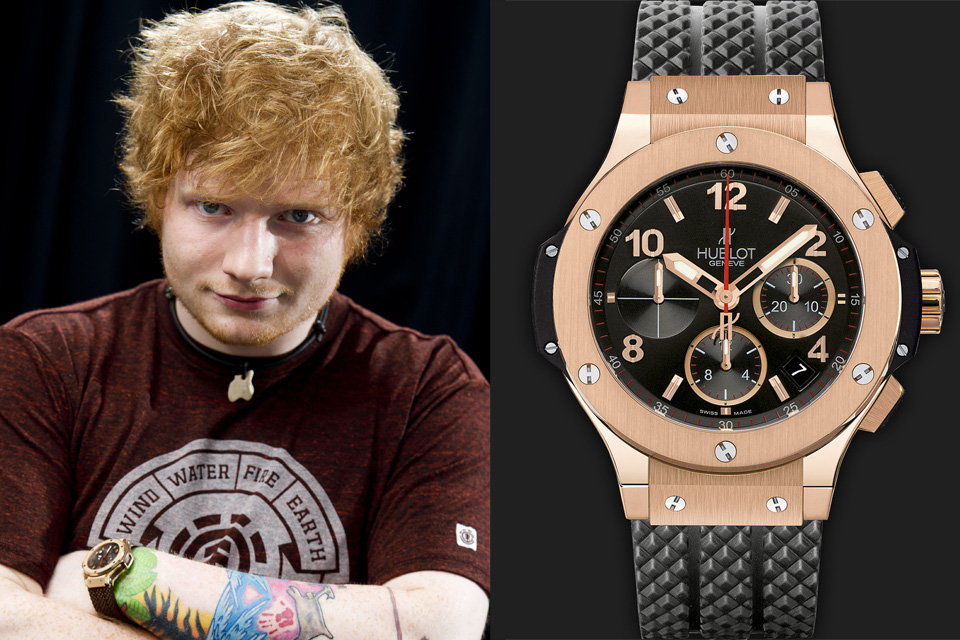 Watching Celeb Watches: Ed Sheeran, a young but tasteful collector