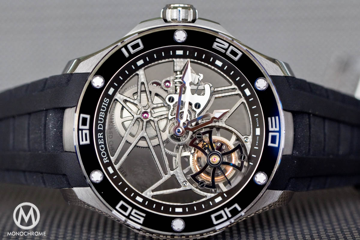 Roger Dubuis Pulsion Skeleton Flying Tourbillon in Titanium – REVIEW