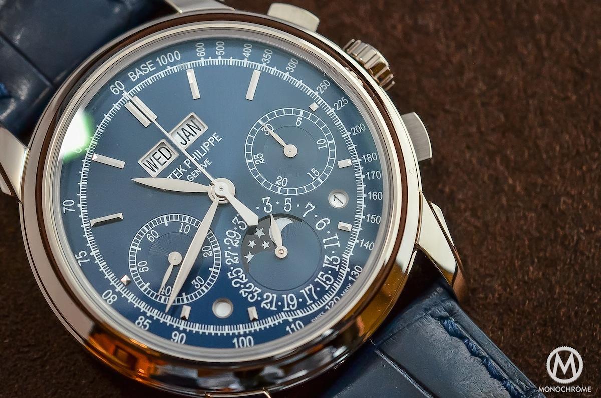 Perpetual Calendar Patek : Patek philippe perpetual calendar chronograph blue
