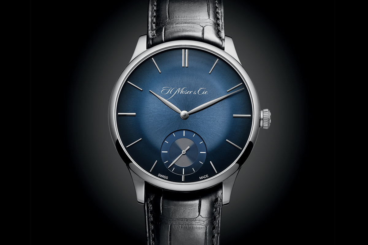 Introducing the H. Moser & Cie Venturer Small Second Bucherer Edition (blue fumé dial)