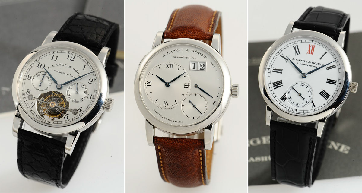 The Auction Hammer: 3 Rare A. Lange & Söhne Watches Including an Extremely Rare Lange 1 in Stainless Steel